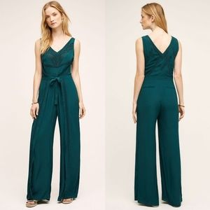 Anthropologie Elevenses Sabine Jumpsuit Wide Leg 8